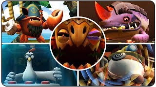 Donkey Kong Country Returns - All Bosses (Mirror Mode / No Damage)