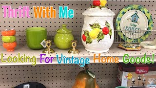Goodwill Thrift WIth Me | Looking For Vintage Items To Resell On Etsy!