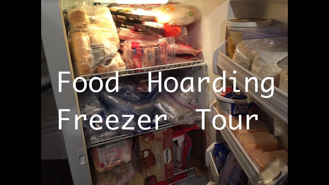 Food Hoarding: Freezer Tour - YouTube