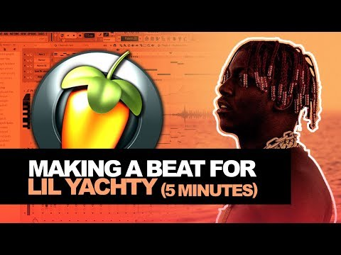 HOW TO MAKE BEATS FOR LIL YACHTY IN 5 MINUTES! (Lil Boat 2 Cookup) | How To Make a Beat In FL Studio