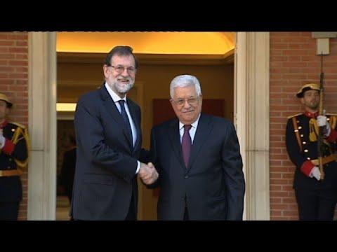 Mariano Rajoy accueille Mahmoud Abbas à Madrid