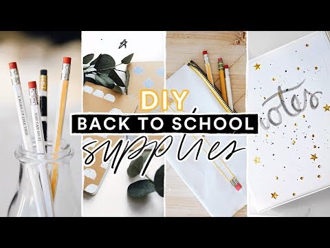 DIY BACK TO SCHOOL SUPPLIES + STATIONERY ✏️📓 Super Cute + Affordable // Lone Fox