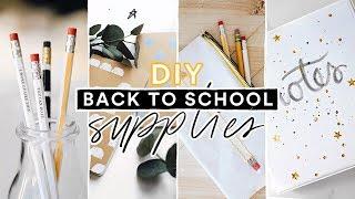 DIY BACK TO SCHOOL SUPPLIES + STATIONERY ✏️📓 Super Cute + Affordable // Lone Fox