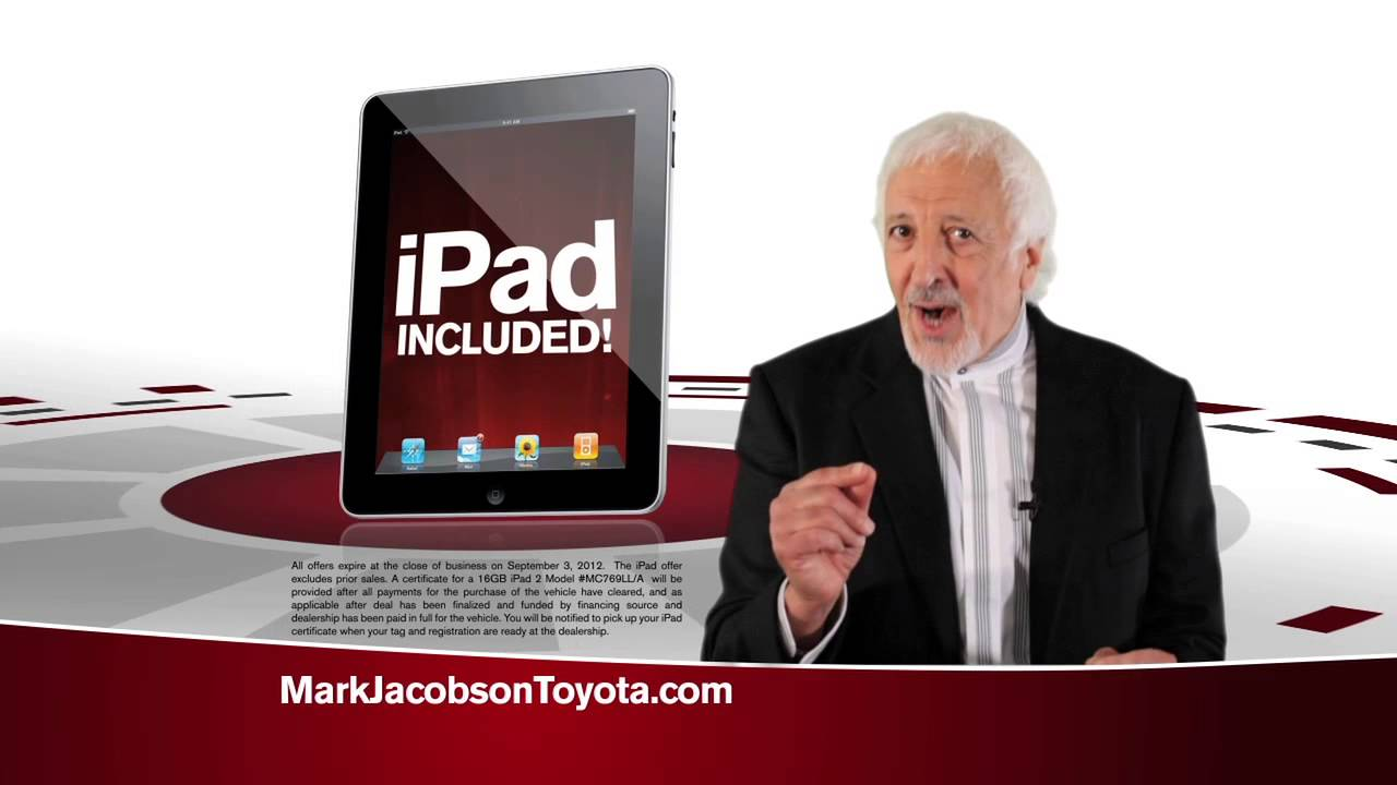 Mark Jacobson Toyota Used Cars Ipad Youtube