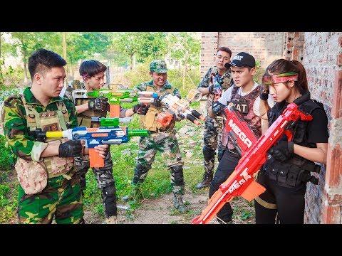 LTT Nerf War : Special Police SEAL X Warriors Nerf Guns Fight Organized Crime Dr Lee