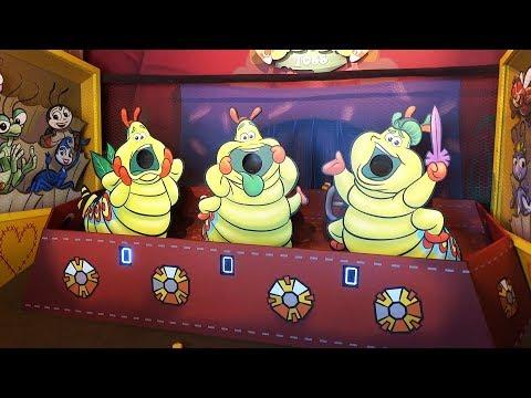 Pixar Pier NEW boardwalk games (Heimlich, WALL-E, La Luna) at Disneyland Resort