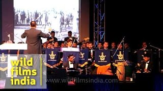 Indian Air Force band plays