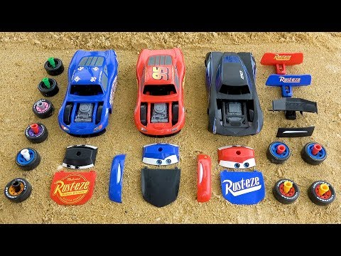 Assembly lightning Mcqueen with Learn and numbers colors
