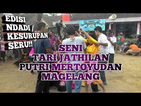 Seni Tari Jathilan putri - Ndadi (Kesurupan) - Mertoyudan Magelang - seru !!!
