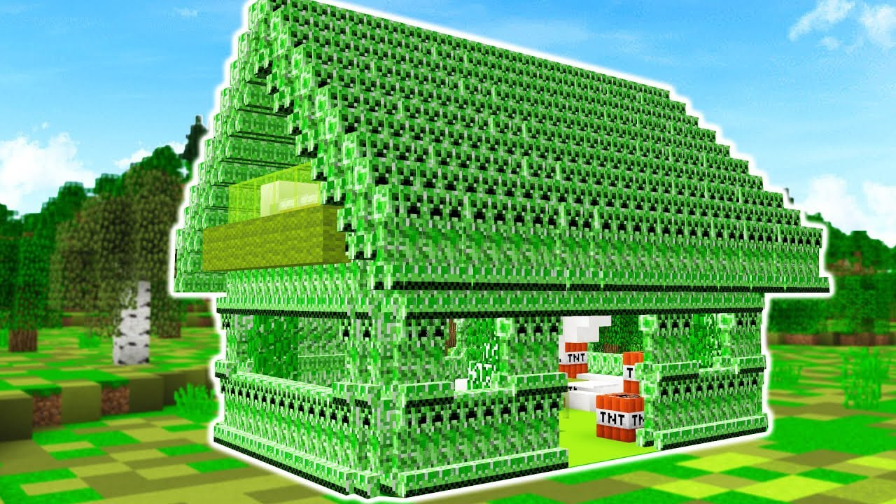 how to make a creeper house in minecraft youtube