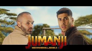 Andrés Iniesta y Marco Asensio en JUMANJI: BIENVENIDOS A LA JUNGLA