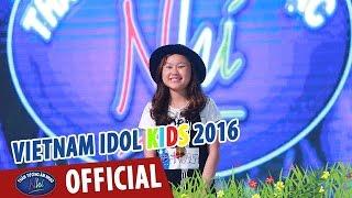 vietnam idol kids - than tuong am nhac nhi 2016 - ve an com - song nhu nhung doa hoa - huong thao