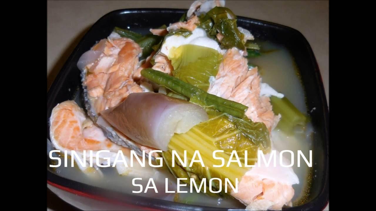 Sinigang Na Salmon Sa Lemon