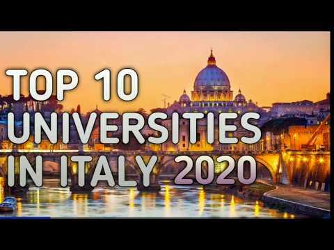 Top Universities In Italy 2020