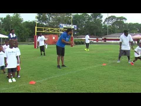 Larry Fitzgerald at Leon Washington football camp