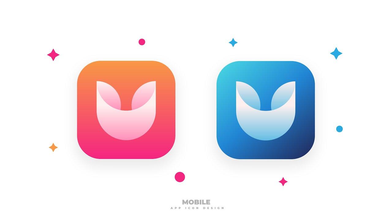 mobile app icon design adobe illustrator - speed art