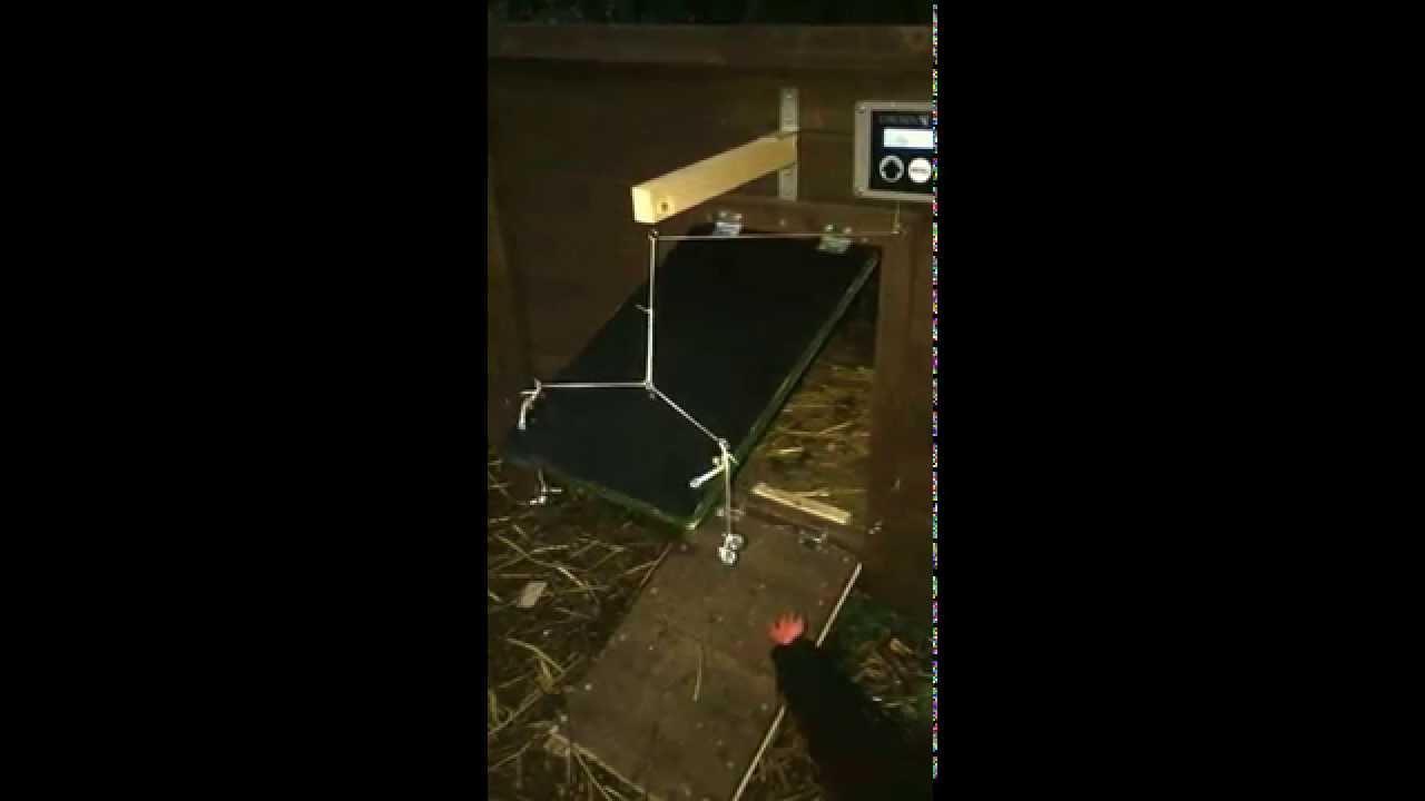 Porte de poulailler automatique pivotante youtube - Porte poulailler automatique ...