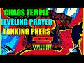Chaos altar guide tanking pkers while leveling prayer in wilderness temple