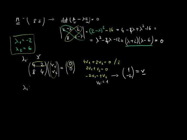 Mátrix diagonális alakja, diagonalizálás