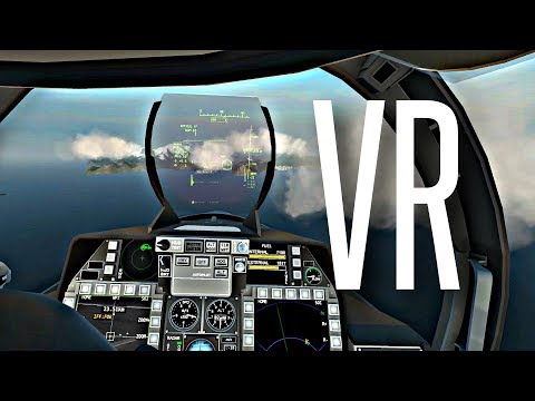 FLYING A FIGHTER JET IN VIRTUAL REALITY - VTOL VR