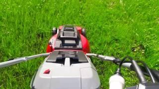 Первый скос травы газонокосилкой Einhell GC-EM 1742