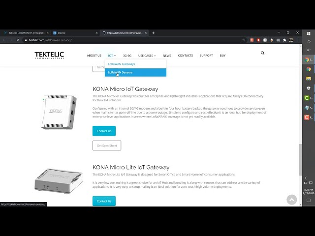 Integrate the Tektelic Network Server with TagoIO