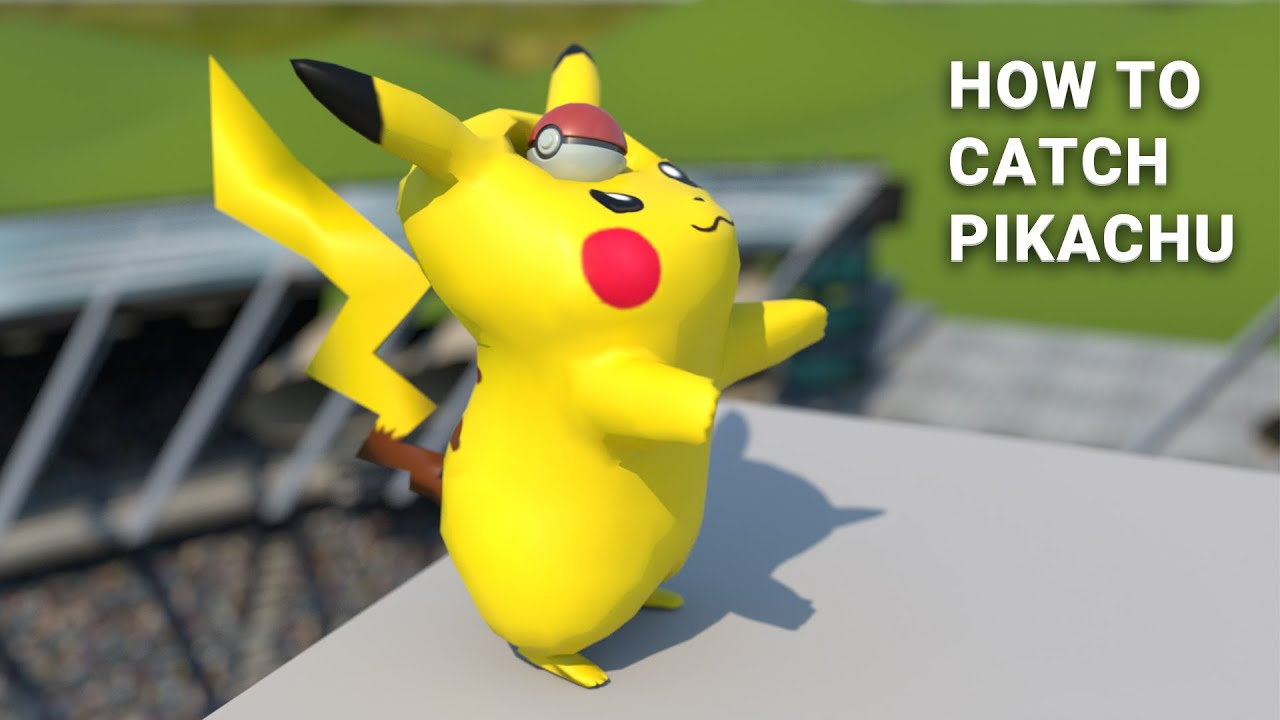 How To Catch a Pikachu [Softbody Simulation] easy
