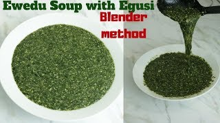 Ewedu Soup with Egusi | Ewedu Elegusi | Jute leaves soup