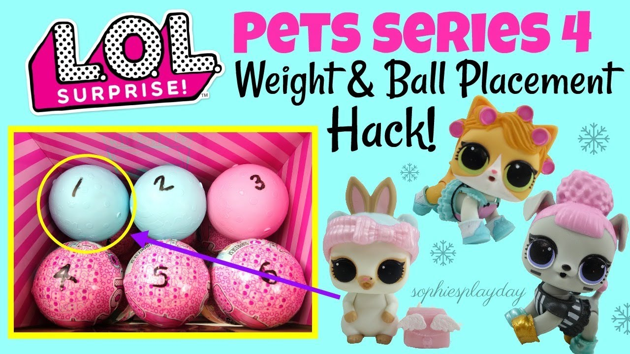 Lol Surprise Pets Series 4 Eye Spy Decoder Weight And Ball Placement