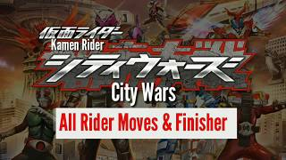 Kamen Rider City Wars Android All Moves Form and Finisher Kamen rider