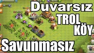 Duvarsız Savunmasız Köy #1 - Clash of Clans