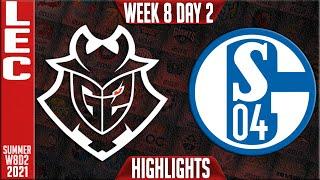G2 vs S04 Highlights | LEC Summer 2021 W8D2 | G2 Esports vs Schalke 04