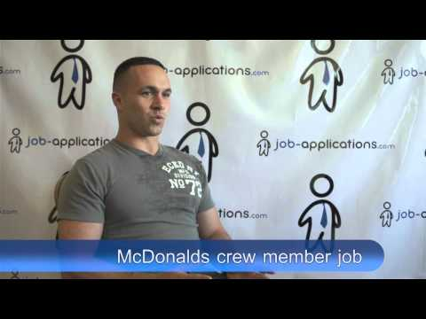 McDonalds Interview - Crew Member