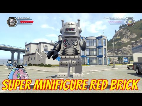 LEGO City Undercover Remastered 100% Completion Super Minifigures Red Brick Unlocked
