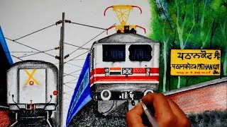 Pathankot express with WAP5 30000 entering PATHANKOT Jn. ||