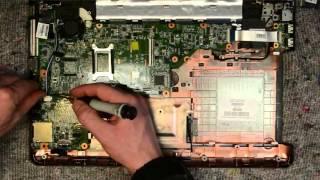 HP Compaq  Presario CQ57 laptop disassembly, take apart, teardown tutorial
