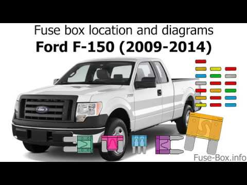 Fuse box location and diagrams Ford F-150 (2009-2014) - YouTube