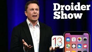 Революция в iOS13, Илона Маска уволили, Карт от Xiaomi | Droider Show #388