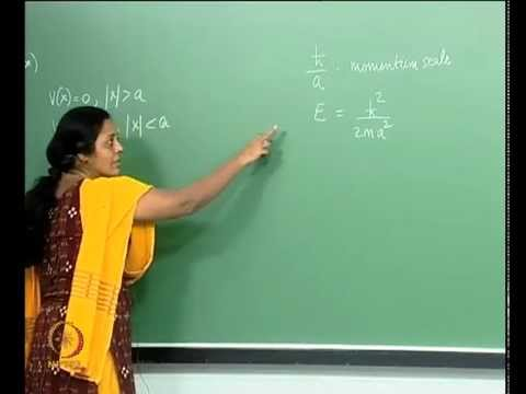 Mod-01 Lec-25 One-Dimensional Square Well Potential: The Bound State Problem