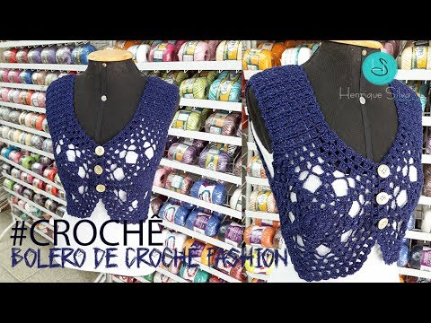 Bolero De Crochê Fashion - Henrique Silva TV