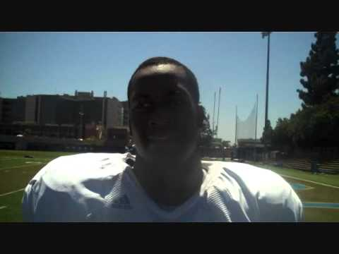 UCLA Freshman RB #28 Malcolm Jones Post-Practice 8/31