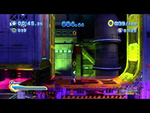 Sonic Generations 100% Walkthrough [Missions] - Chemical Plant Modern - Underwater Ring Machine