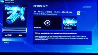 PS4 FREE GAME RESOGUN DOWNLOAD SHOOTER PSN NETWORK