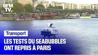 Les tests du seabubbles ont repris à Paris