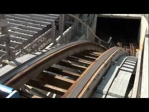 Great White POV Wooden Roller Coaster Morey's Piers Wildwood New Jersey Shore