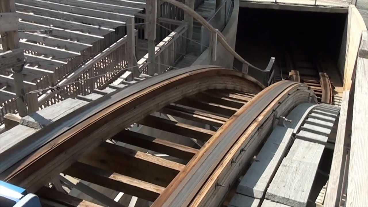 Great White Pov Wooden Roller Coaster Morey S Piers Wildwood New Jersey