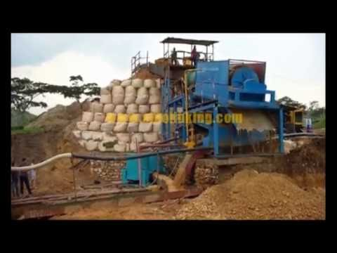Gold trommel wash plant with concentrator working in Africa