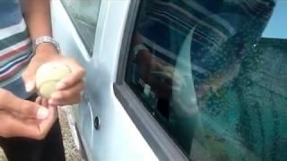 Abrir a porta do carro sem chave !