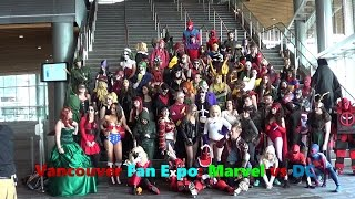Vancouver Fan Expo 2015 Cosplay: Marvel vs DC Photoshoot