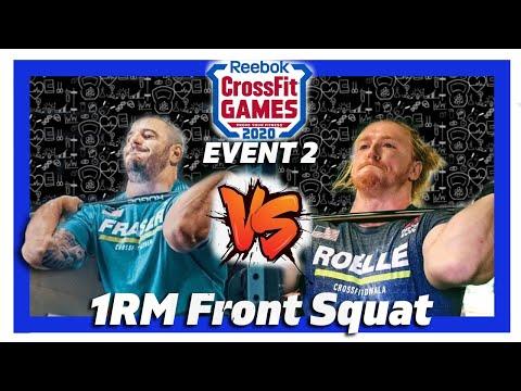 �� Crossfit games 2020 event 2 front squat ▶ men's max front squat highli...